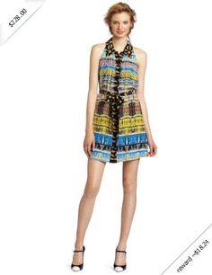 Plenty by Tracy Reese Women's Swingy Shirt Dress, Inca Stripe, Small
