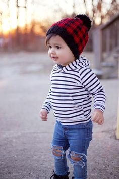4f9fd51e577 HATE the ripped jeans for a baby