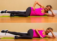 6. Inner-Thigh Pilates Leg Lifts: There are lots of Pilates exercises that target the inner-thighs and this is one of the best. You