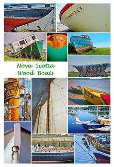 """Nova Scotia Wood Boats, my latest collage. Already printed in 13"""" x 19"""" size, looks great. More of these are in the works, with related Nova Scotia themes."""