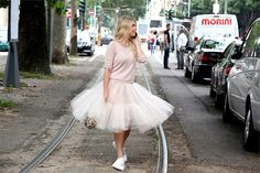 I love a tulle moment. #ZhannaBianca in Milan.
