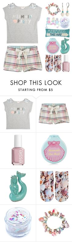 """Mermaid PJ Party"" by meaganmuffins on Polyvore featuring Skylar Luna, Fat Face, Essie, Accessorize, Free Press, In Your Dreams, New Directions, sleepwear, mermaid and slumberparty"