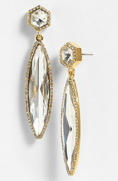 50 Party-Perfect Accessories Under $50 - 'DIAMONDS IN THE SKY' CRYSTAL DROP EARRINGS