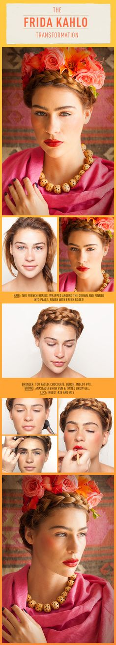 Beauty Role Model: Frida Kahlo.. this hair do would look great with day of the dead makeup.... can't wait