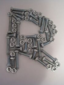 Crafts and Crap: Nut and Bolt Monogram