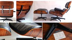 Eames® Mid Century Modern Rosewood Lounge Chair & Ottoman (Alt view)