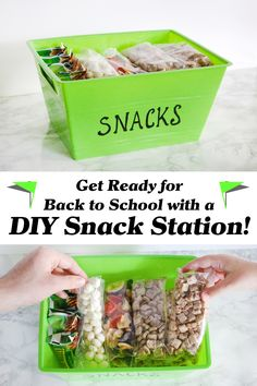 Southern Mom Loves: Get Ready for Back to School with a DIY Snack Station! Featuring at Healthy School Snacks, After School Snacks, Lunch Snacks, School Lunches, Snack Station, Snack Bar, Portable Snacks, Hacks, Back To School