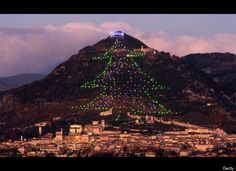 The largest Christmas tree in the world. Gubbio, Italy   photo: Getty