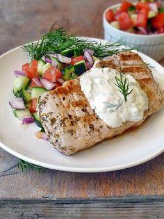 Greek Style Pork Chops | by Life Tastes Good #lowcarb #healthy