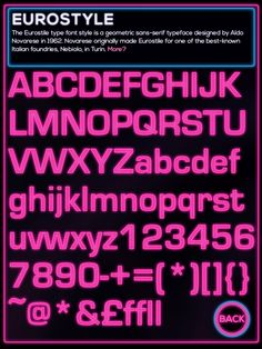Font Information - Eurostyle
