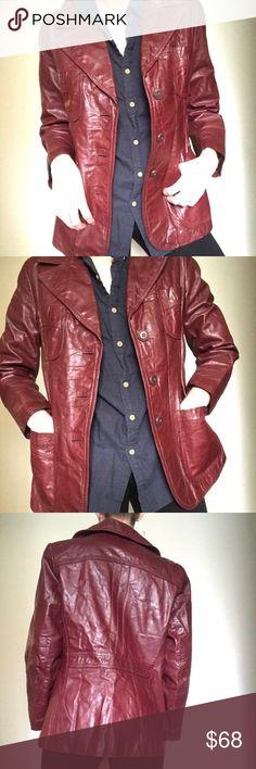 c4c7f3677cdfb Maroon genuine leather jacket Maroon Genuine leather jacket This gorgeous  vintage leather jacket is so rad
