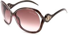 Roberto Cavalli Womens RC575SSW50F Squared Wrap Sunglasses,Brown Frame/Brown and Pink Lens,One Size Roberto Cavalli. $228.00