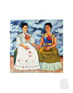 The Two Fridas, c.1939 Art Print by Frida Kahlo at Art.com