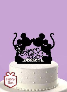Adorno Para Torta Casamiento Mickey Mouse/ Cake Topper Boda - $ 170,00 en MercadoLibre