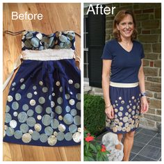 Button Challenge -- Take 2  Sewing/Repurpose/DIY/ Handmade/Buttons/Refashion Runway