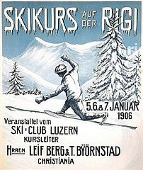 Skikurs auf der Rigi (1906) (Susanlenox) Tags: mountain snow ski ice illustration germany poster deutschland nieve alemania plakat cartel alemanya rtol