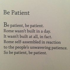 Be Patient - egghead