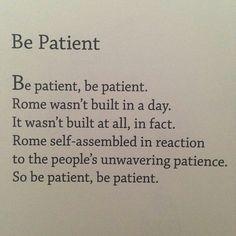 Be Patient - egghead