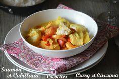Cabillaud Saumon et Crevettes au Curry et Curcuma