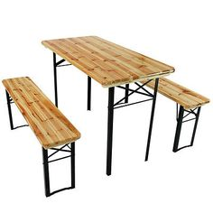Folding wood bench beer table set picnic camping #party #garden furniture #wooden,  View more on the LINK: 	http://www.zeppy.io/product/gb/2/331630886510/
