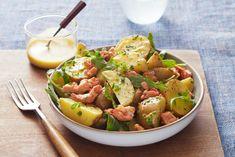 Warm Salmon and Potato Salad (c) Ghazalle Badiozamani