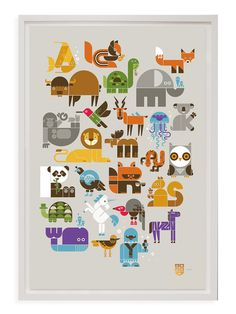 Wee Alphas Limited Editions Screen Print by Wee Society at Gilt