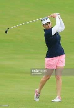 Morgan Pressel hits her second shot on the third hole during the second round of the Volunteers of America Texas Shootout at Las Colinas Country Club on April 29, 2016 in Irving, Texas.