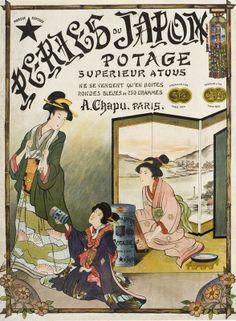 Peries du Japon - Potage Superieur a Tous - Vintage Food Poster