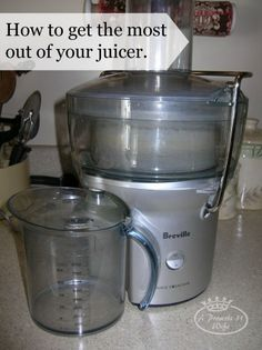 If you are Juicing you want to make the most of your juice. Here are a few tips and tricks on how to get the most out of your juicer. #juicing #juice #diet.