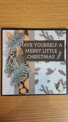 Kaisercraft Mint Wishes Christmas card Merry Little Christmas, Christmas Ideas, Holiday Cards, Christmas Cards, Xmas Theme, Christmas Paper Crafts, Favorite Holiday, Journals, Card Ideas