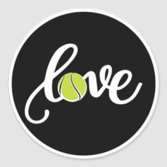Shop Love Tennis Sticker Tennis Ball created by Personalize it with photos & text or purchase as is! Beach Tennis, Tennis Party, Tennis Gifts, Red Heart Patterns, Tennis Quotes, Tennis Players, Logos, Love Gifts, Lululemon Logo