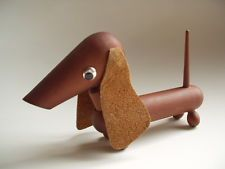 Vintage Japanese modern wooden DOG figurine / Hans Bolling Kay Bojesen Danish