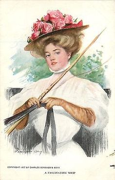 Frances-Day-A-Fascinating-Whip-Pretty-Victorian-Lady-Drives-the-Buggy-Rose-Hat