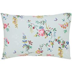 Cath Kidston Birds and Roses Pillowcase - Duck Egg (€19) ❤ liked on Polyvore featuring home, bed & bath, bedding, bed sheets, cotton bedding, floral pillowcases, cotton pillowcases, floral bedding and cath kidston bedding