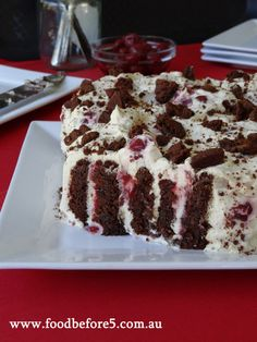 This is the ultimate chocolate ripple cake but with a BIG difference – cherries and jam! Whack it all together and you have an absolutely delicious dessert. Xmas Food, Christmas Cooking, Christmas Desserts, Christmas Recipes, Pear And Almond Cake, Almond Cakes, Baking Recipes, Cake Recipes, Dessert Recipes