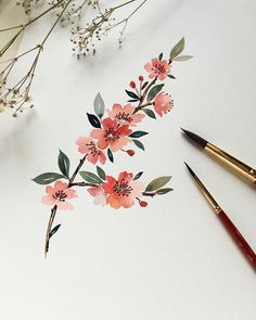 Artistas Todo sobre arte y elegancia. Watercolor Cards, Watercolour Painting, Watercolor Flowers, Painting & Drawing, Watercolors, Poster Color Painting, Watercolor Illustration, Watercolor Inspiration, Painting Inspiration