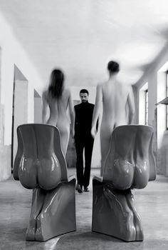 Sedia Him & Her Casamania by Fabio Novembre