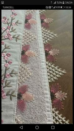 Needle lace Source by nurcannberkee Baby Knitting Patterns, Hand Embroidery, Machine Embroidery, Tatting, Lace Runner, Decorative Towels, Filet Crochet, Needle Lace, Lace Making