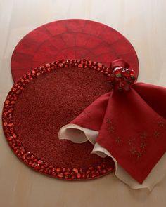 kim seybert   Kim Seybert Four Capiz-Shell Place Mats - traditional - table linens ...