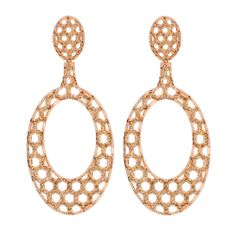 Gold and diamond earrings by Carla Amorim