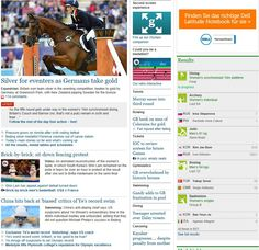 219 – The picture of Team GB's success at the Olympics has been placed in the top left hand corner of the page, the most viewed part of a website. The newspaper is focusing on the athletes from their own country more so than other countries and their success. Nevertheless, despite focusing on Team GB, they have mentioned the gold medal winners in the headline. In comparison with other stories, this story dominates the page and tops the running order.