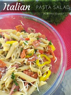 Make this Italian Pasta Salad with Salami for your next BBQ or cookout. It's sure to please your guests, and it only take 20 minutes to make.