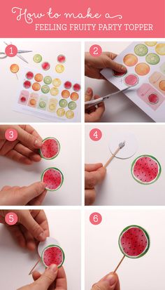 How to make your Feeling Fruity Printable Party Toppers & Tags | Tinyme Blog