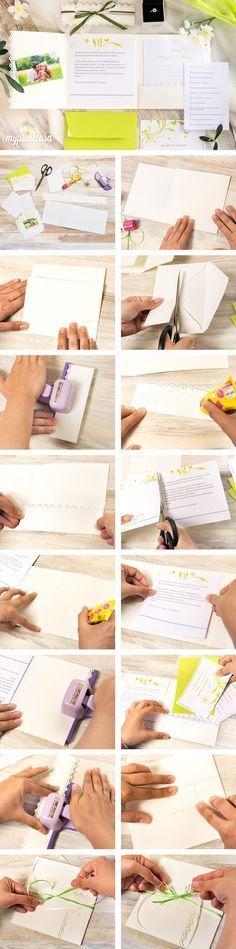 Der Trend des Jahres bei den Einladungskarten heißt: Pocketfold! Im Magazin zeigen wir wie Pocketfold-Karten ganz einfach und günstig selber gemacht werden können.   #diy #basteln #hochzeitskarten #hochzeitseinladung #braut #bräutigam #anleitung #tutorial #selbermachen #danksagungskarte #einladungskarte #pocketfold