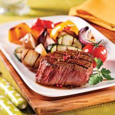 Filets mignons au vin rouge et poivre rose - Recettes - Cuisine et nutrition - Pratico Pratique