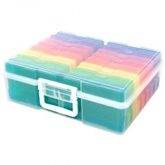 Get a handle on your favorite hobby with craft & photo storage and organization bins. This package contains one storage bin that includes 16 mini cases. Each mini case measures 4 x Storage Bin measures 15 Plastic Storage, Storage Bins, Craft Storage, Storage Containers, Storage Organization, Classroom Organisation, Classroom Displays, Rustic Closet, Love Scrapbook