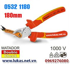 Kìm cắt cách điện 180mm - 1000V (VDE), 0532 1180, Matador - Germany