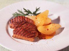 Découvrez la recette des magrets de canard aux coings