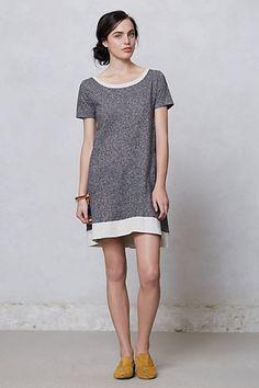 terrycloth contrast dress