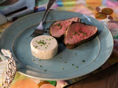 Savory Horseradish Panna Cotta with Peppered Beef Tenderloin recipe from Valerie Bertinelli via Food Network. Pinned for cooking temp and time. Top Recipes, Beef Recipes, Cooking Recipes, Cooking Food, Dinner Recipes, Cooking Beets, Party Recipes, Yummy Recipes, Recipes